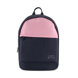 代購 Jack Wills backpack / London classic 粉紅色