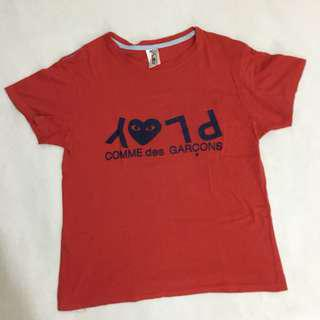 Comme de Garcon PLAY Red T Shirt