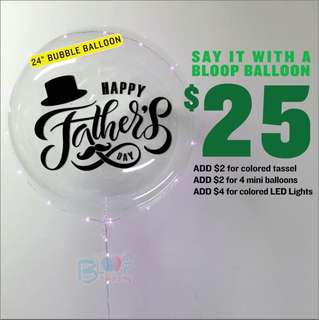 """🚚 24"""" personalised balloon - Father's Day Gift"""
