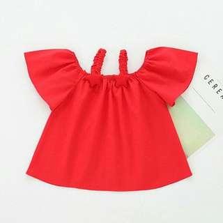 Cute Solid Star Decor Short Sleeve Slip Dress for Baby Girl