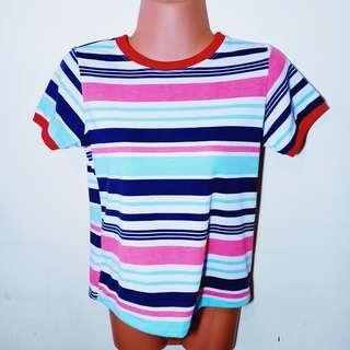 Tshirt stripes w red lines
