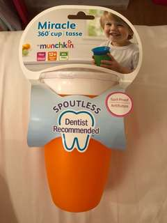 Munchkin miracle 360 spoutless sippy cup