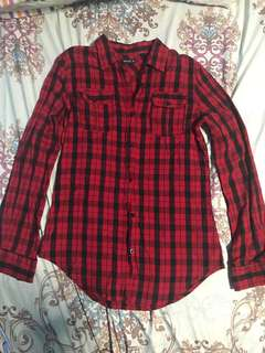 Long sleeves - Checkered Red/Black - Polo