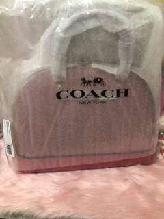 BNWT Authentic Coach Sierra Satchel in Geometric Colorblock