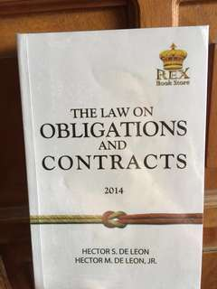 The law on Obligations and Contracts 2014 by Hector De Leon and Hector De Leon Jr.
