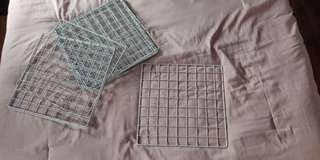 White Metal Grid Squares