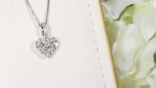 18K White Gold Diamond pendant and diamond ring set