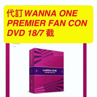 Wanna one premier fan con dvd