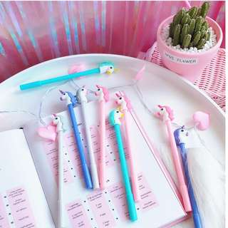 Cute unicorn and cat pens up for grabs!