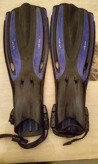 Oceanic Viper Scuba/Snorkelling Fins (Mens Shoe Size 8)