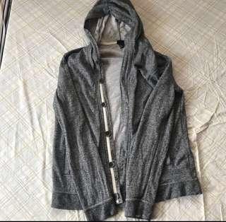 H&M hoodie jacket gray