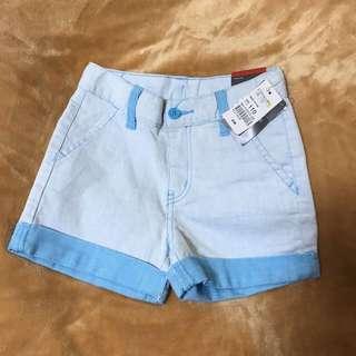 🚚 全新女童110/120cm牛仔短褲