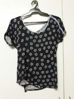 Plains & Prints open back shirt