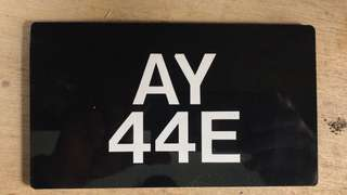OLD number plate