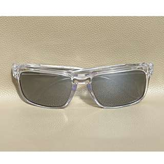 Original kacamata Oakley Holbrook crystal clear chrome iridium polarize