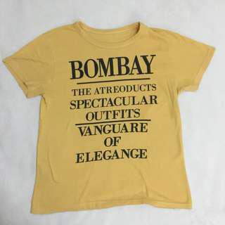 Bombay Yellow Design T Shirt