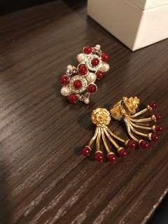 Earrings burgundy family🤩
