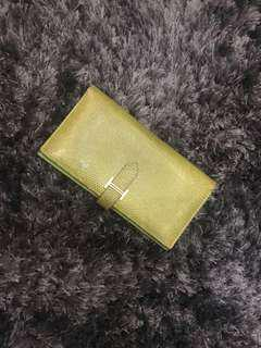 Hermes Bearn Wallet Green Lizard