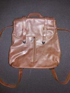 Two-Way Brown Leather Bag