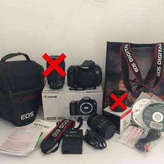 Canon EOS 60D BO Made in Japan Like new + Lensa Canon EFS 18-55mm IS
