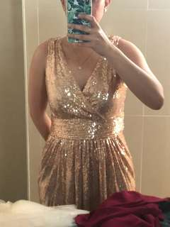 Gold Glitter sequnce gown