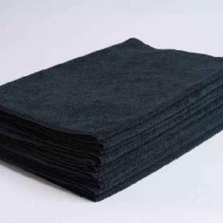 50pcs MICROFIBER PREMIUM HAND / SALON TOWELS ( 80 x 35cm BLACK )