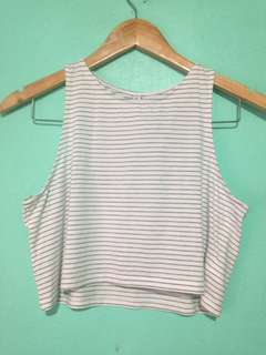 Striped Crop Top H&M Divided