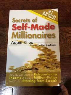 Secrets of self-made millionaire by Adam  Khoo