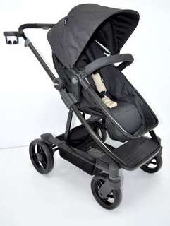 Geoby HIRO Premium Baby Stroller with Reversible Seat Black