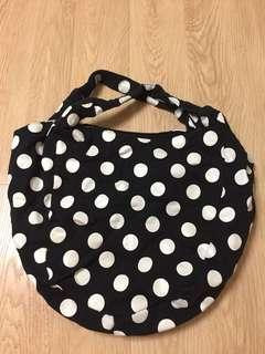 絕版Chocoolate 波點圓形大容量啪鈕手挽袋
