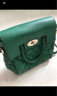 Mulberry backpack green 綠色皮背囊