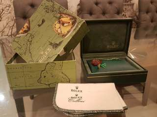 rolex authentic watch box with hangtag and rolex tudor cellini cloth