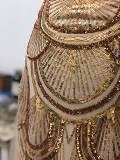 Gold Gown with tribal gold beading