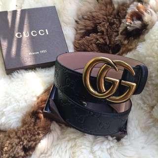 Gucci Marmont Mono Belt