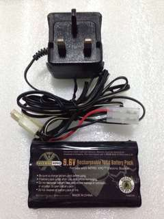 9.6V NiCd Battery W Charger