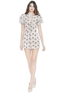 NWT Alice + Olivia palm tree romper