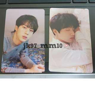[WTS] LOVE YOURSELF TEAR PHOTOCARD - JIN ( O ) & JUNGKOOK ( U )