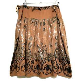 Pinko Premium Sequin Design Skirt