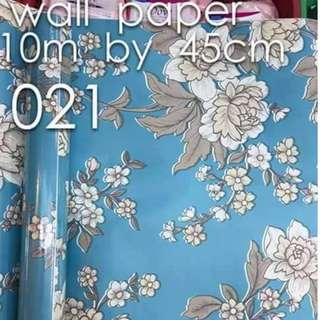 Floral Flowers Wallpaper Self Adhesive C021