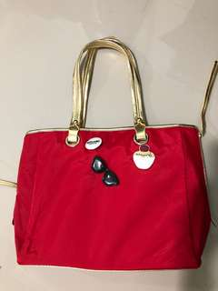 MOSCHINO PARFUMS Red/Gold bag