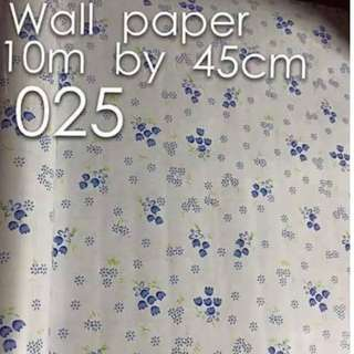 Floral Flowers Wallpaper Self Adhesive C025