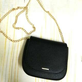 Bershka Gold Chain Shoulder Bag
