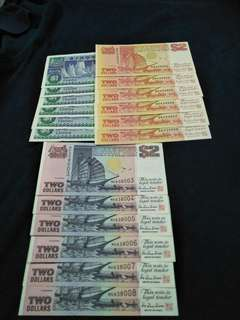 18pc of sg $2 running number