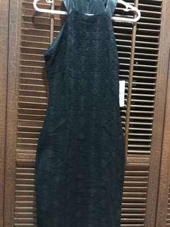 Zara Trf Black Halter Fitted Dress