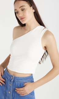 Cotton On White One Shoulder Crop
