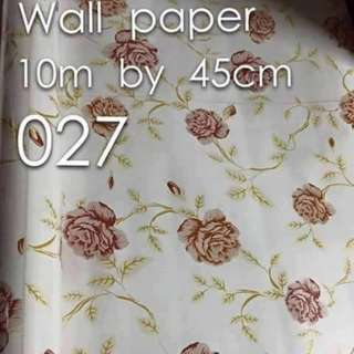 Floral Flowers Wallpaper Self Adhesive C027