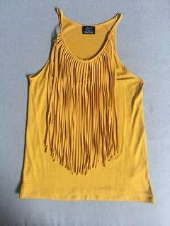 Zara Yellow Sleeveless Top