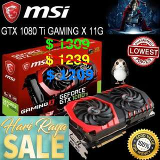 "MSI GTX 1080 Ti GAMING X 11G.. ( Hari Raya Sales ) ""  Hurry Grab it asap "" Till 18 June 18"""