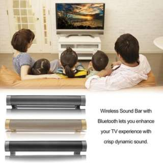 (592)Bluetooth Speaker Soundbar Handsfree Call Music Player Home Theater Speaker
