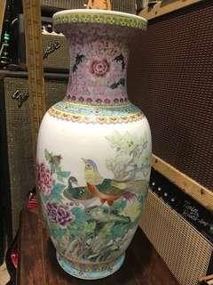舊景德鎮制花鳥大花瓶